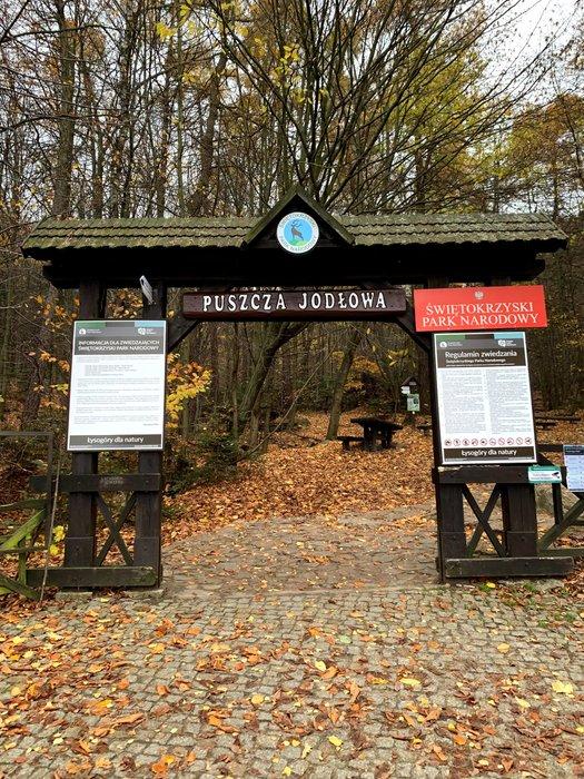 Wejście do Świętokrzyskiego Parku Narodowego