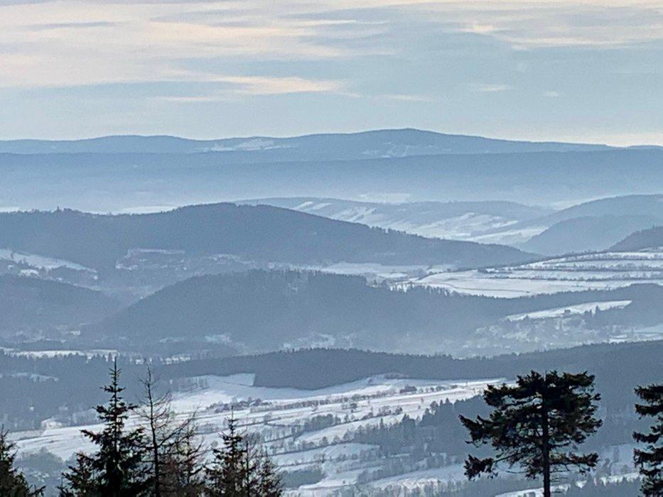 Widok na Kotlinę Kłodzką i Śnieżnik