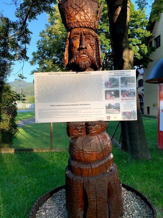 Aleja zbójów w Węgierskiej Górce