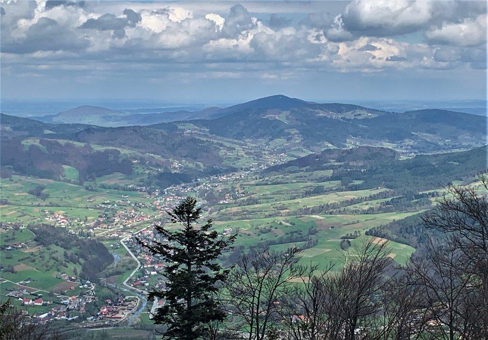 Widok ze szczytu Szczebla