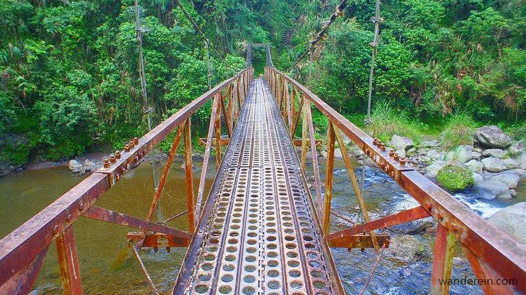 The hanging bridge, path to Awa View Deck