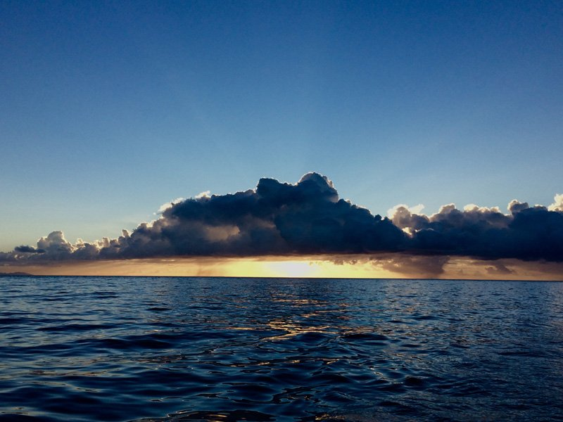 It will be a bright new day. Approaching La Gomera, Canary Islands