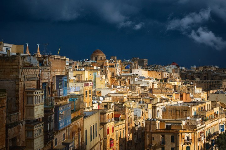 Stormy day in Valletta