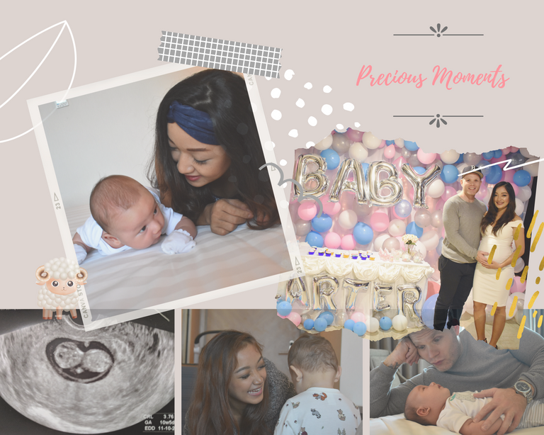 Sweet Pink Background Baby Photo Collage (2).png