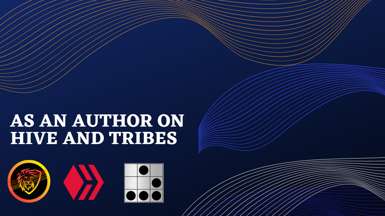 AS AN AUTHOR ON HIVE AND TRIBES.png