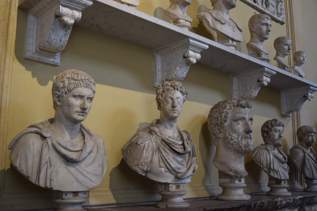 Statues in the Vatican Museum