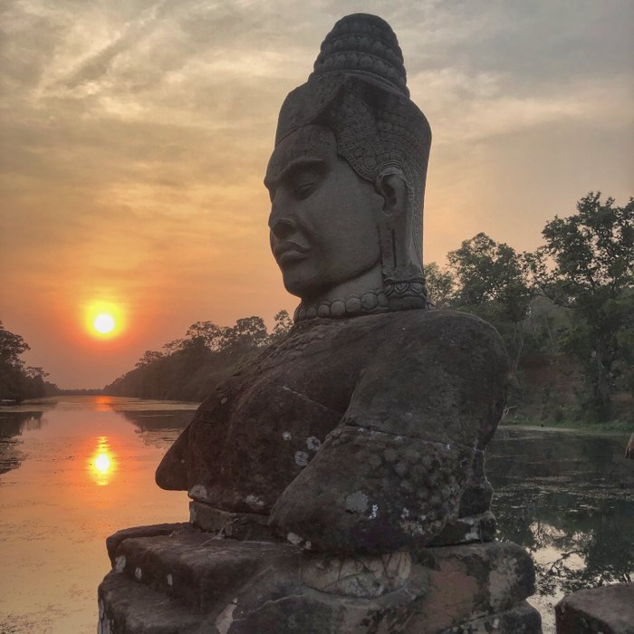 Sunset from Tonle Om Gate, Angkor Wat