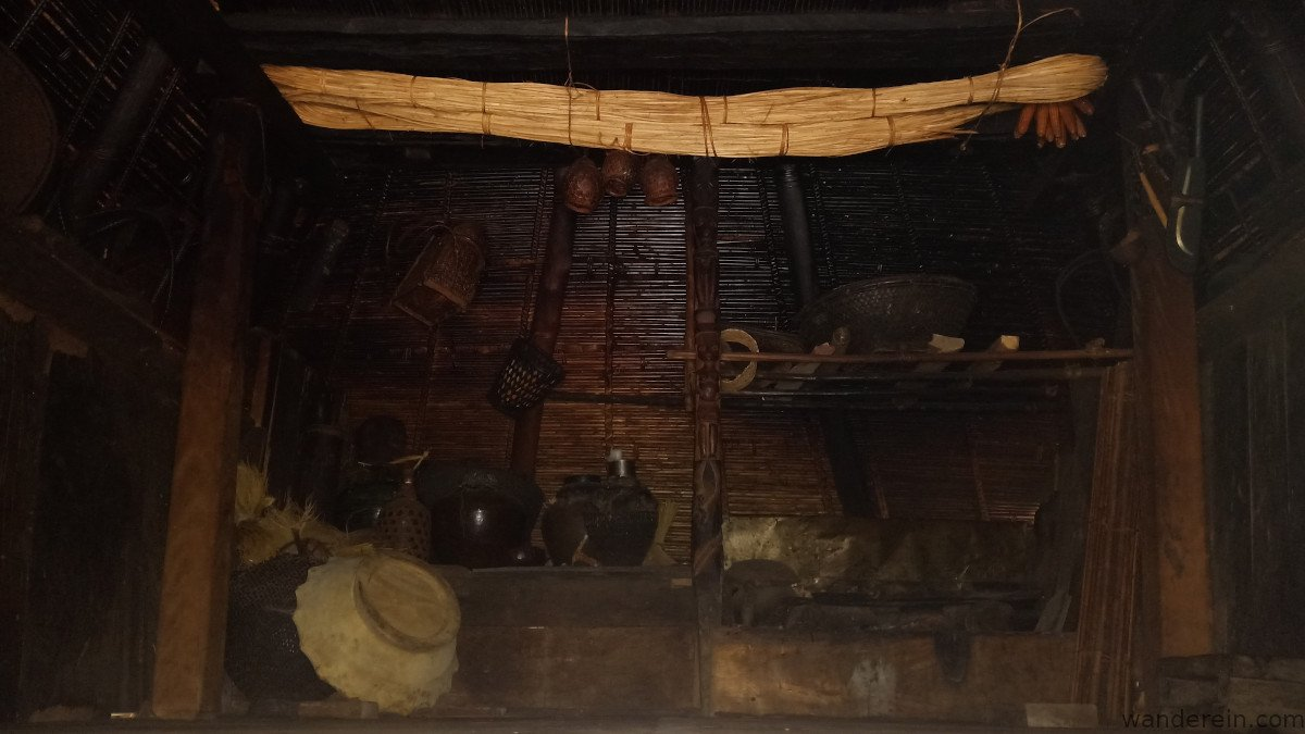 living museum - antique household items stored inside the house