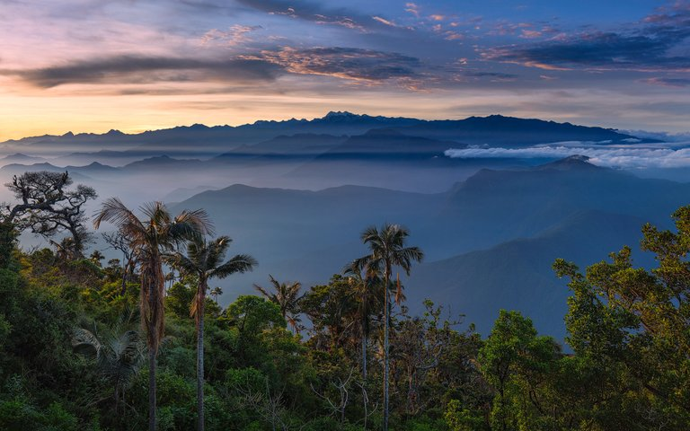The mountains of the Sierra Nevada de Santa Marta during Sunrise