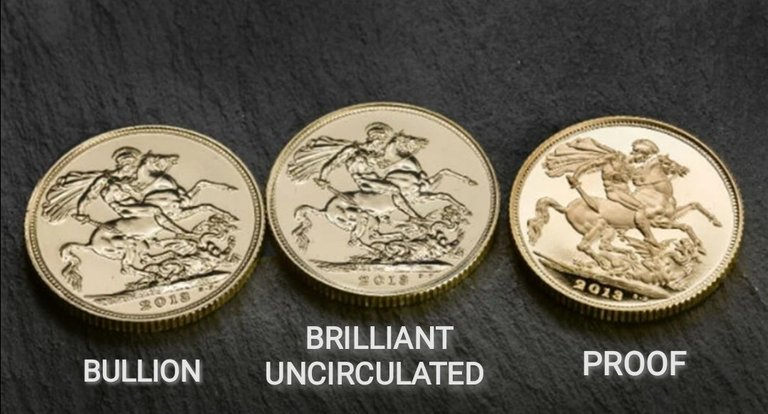 Different collectible coins