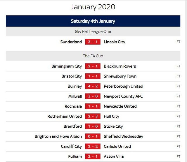 Today S Fa Cup Fixtures 2020 - Total Football