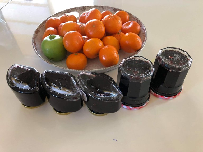 Photo by Minh-Sa Truong: fixing the mulberry jam
