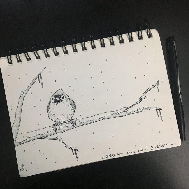 Inktober 2019! No. 11 - Snow