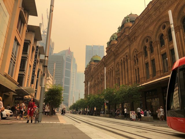 Haze over Sydney