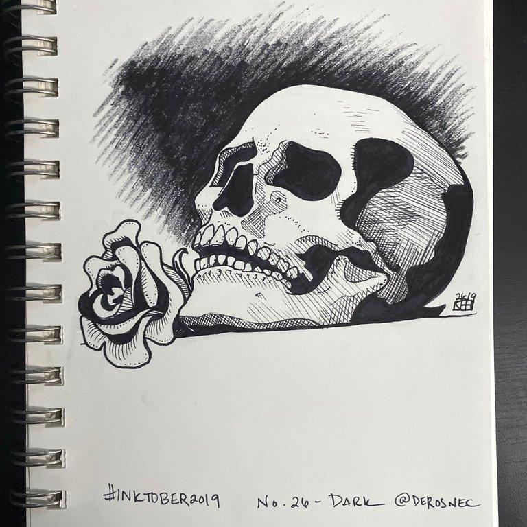 Inktober 2019! No. 26. Dark