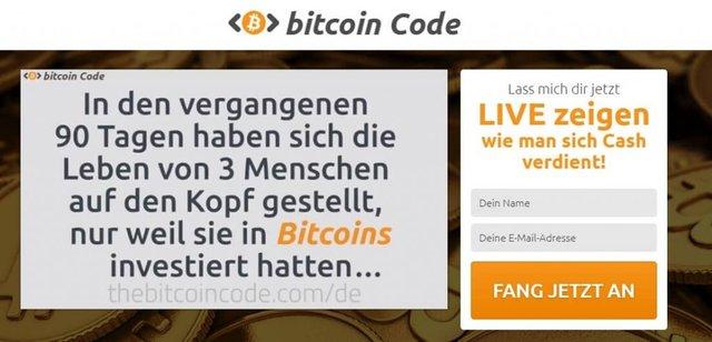 Bitcoin-Code-StartSeite