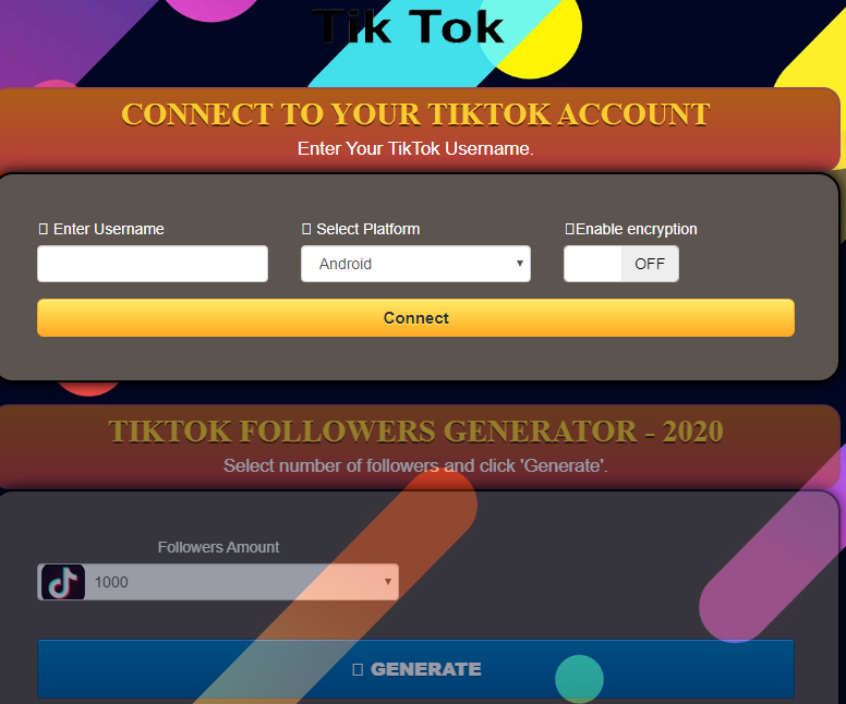 Tiktok Followers Generator 2020 Unlimited Free Tiktok Fans Likes No Verification