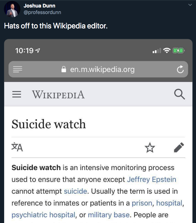 1  Joshua Dunn on Twitter   Hats off to this Wikipedia editor. https   t.co 6ti5a4pDnK    Twitter.png