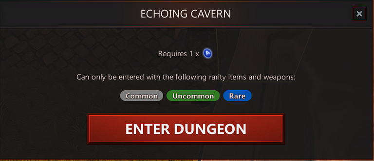 echoing cavern rarity of items to be taken in.png