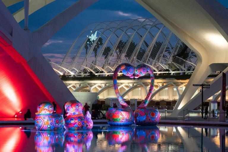 Hung Galaxy Exhibition, at Valencia's City of Arts and Sciences