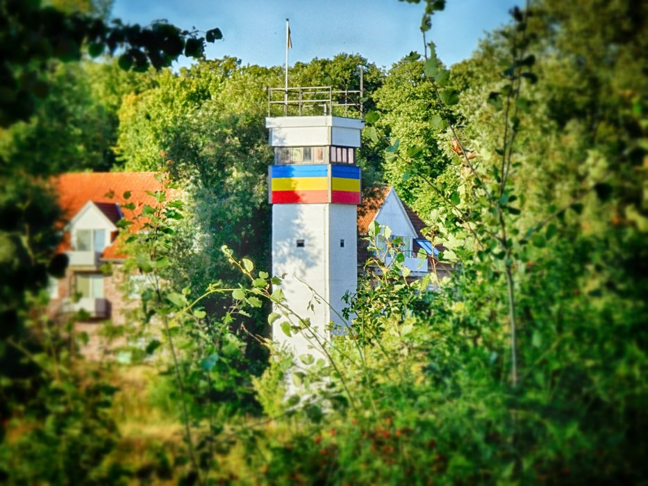 The coloured the last watchtower in Dömitz.