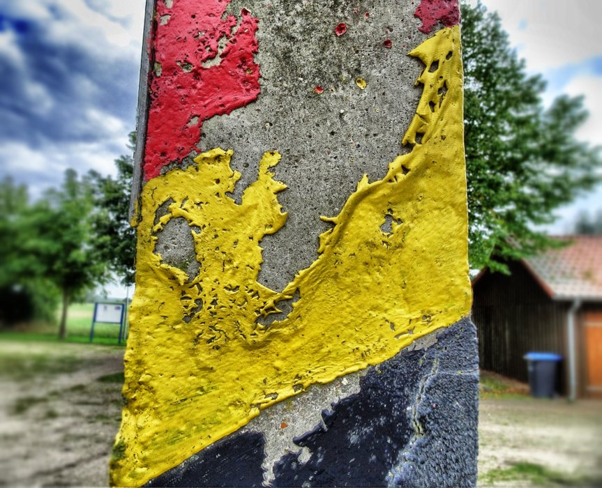 Remains, remains: One of the last border poles along the former Iron curtain.