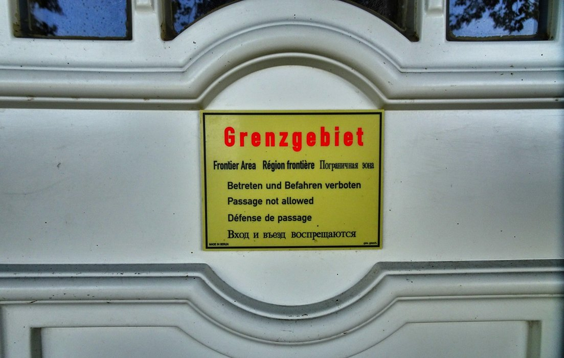 Border area - please do not cross.