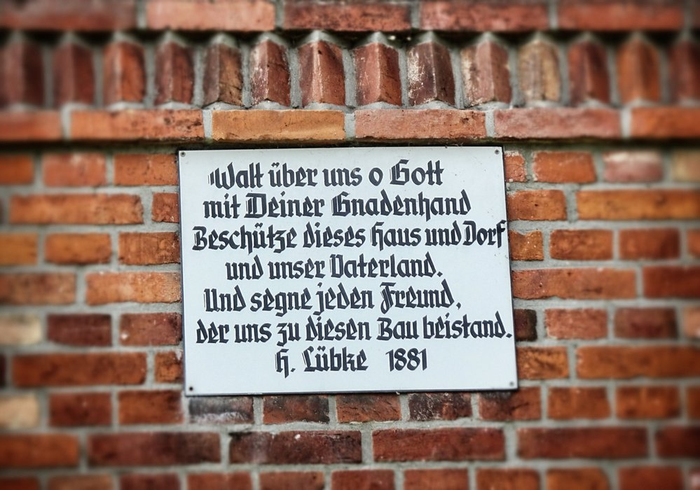 A prayer on an old house.
