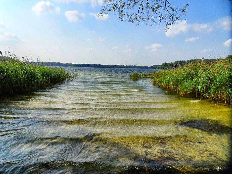 The Schaalsee-Lake in the sun.