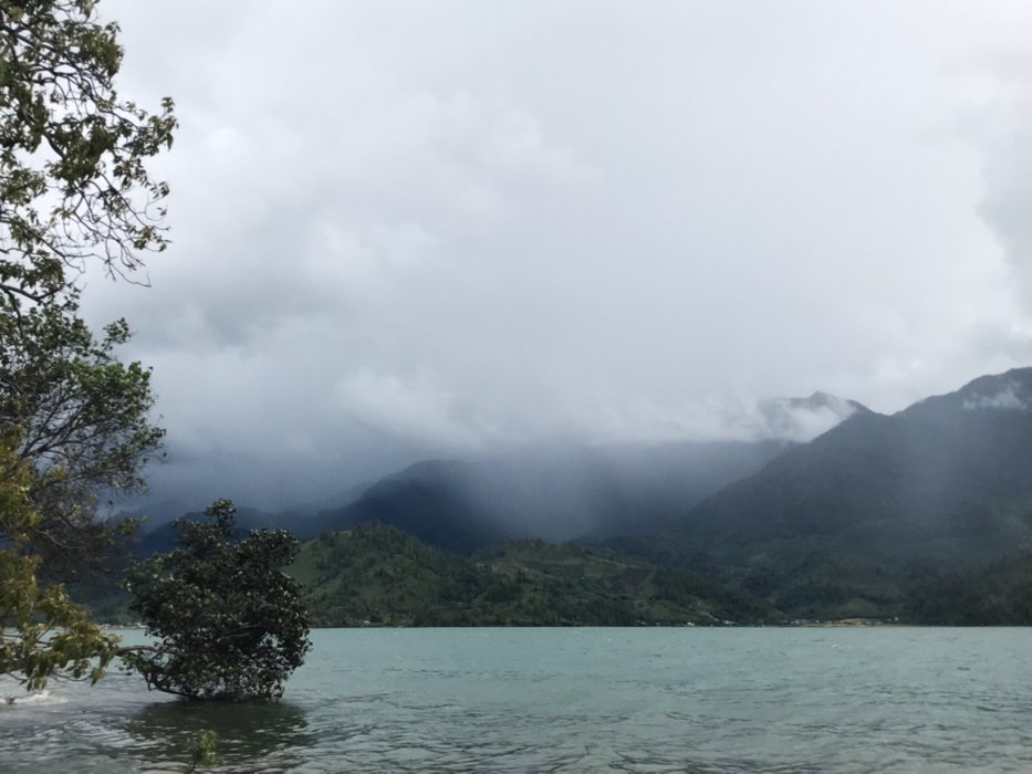 The view of Lake Laut Tawar