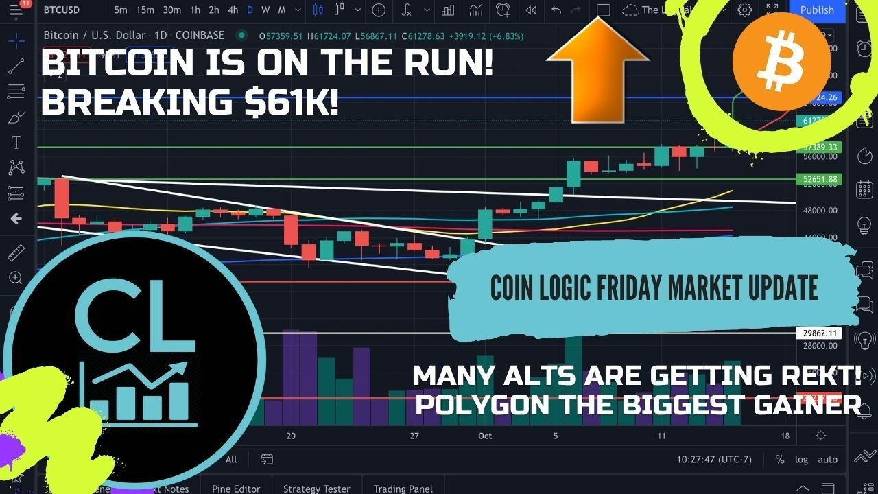 Bitcoin On The Run! Most Alts Getting Rekt Except Polygon!