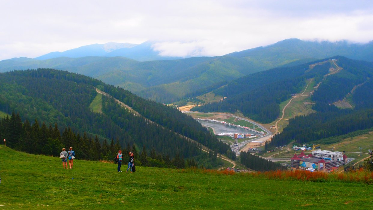View of Bukovel from above