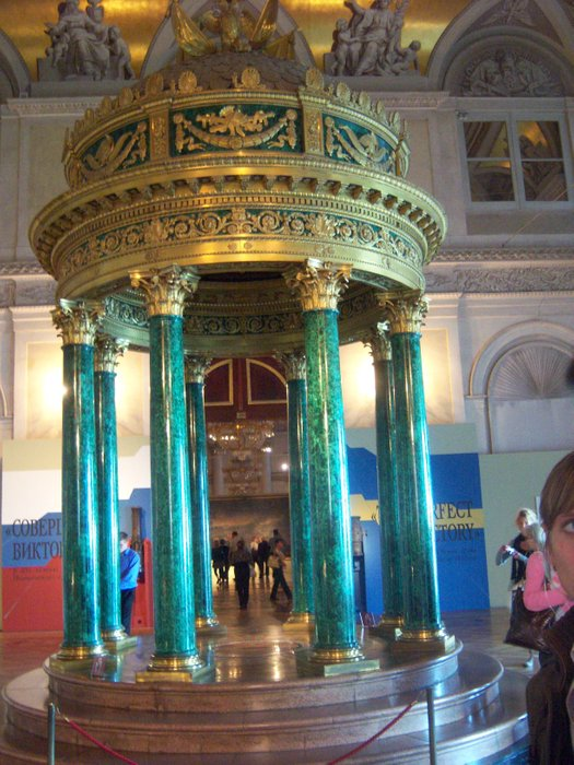 In the blue room of the Hermitage
