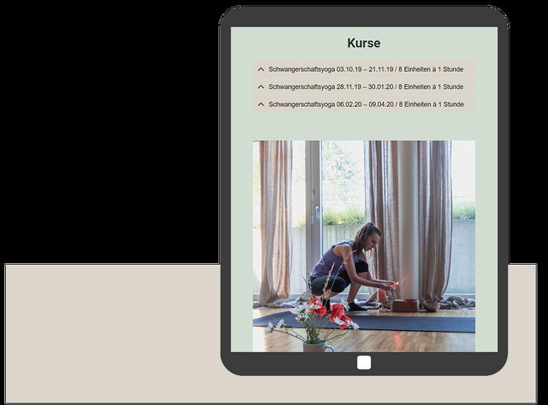 yoga tablet webdesign