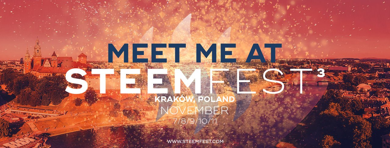 Meet me at SteemFest 2018 in Kraków