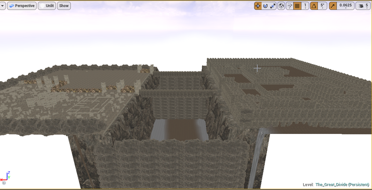 Most of the right side of the caves are done.png