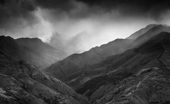 dark rain clouds over Podocarpus national park