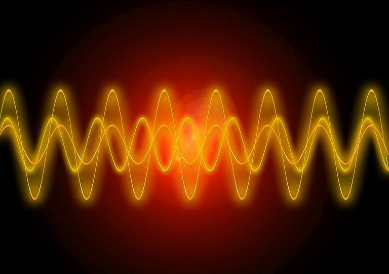 Light, Shining, Yellow, Red, Frequency, Sine, Physics