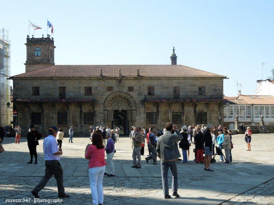 Panoramic of the Obradoiro's Place