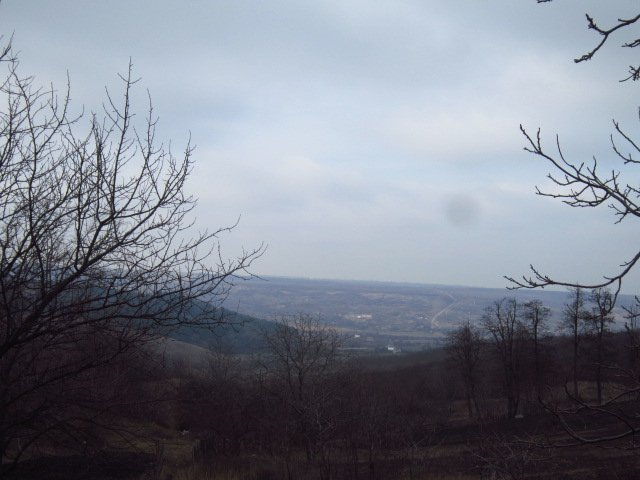 From the city of Podolsk you can see the village of Glubochok