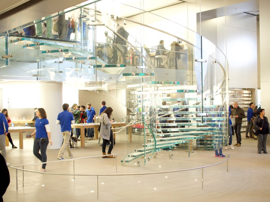 The patented by Apple stairs. Made only for Apple Stores throughout the world