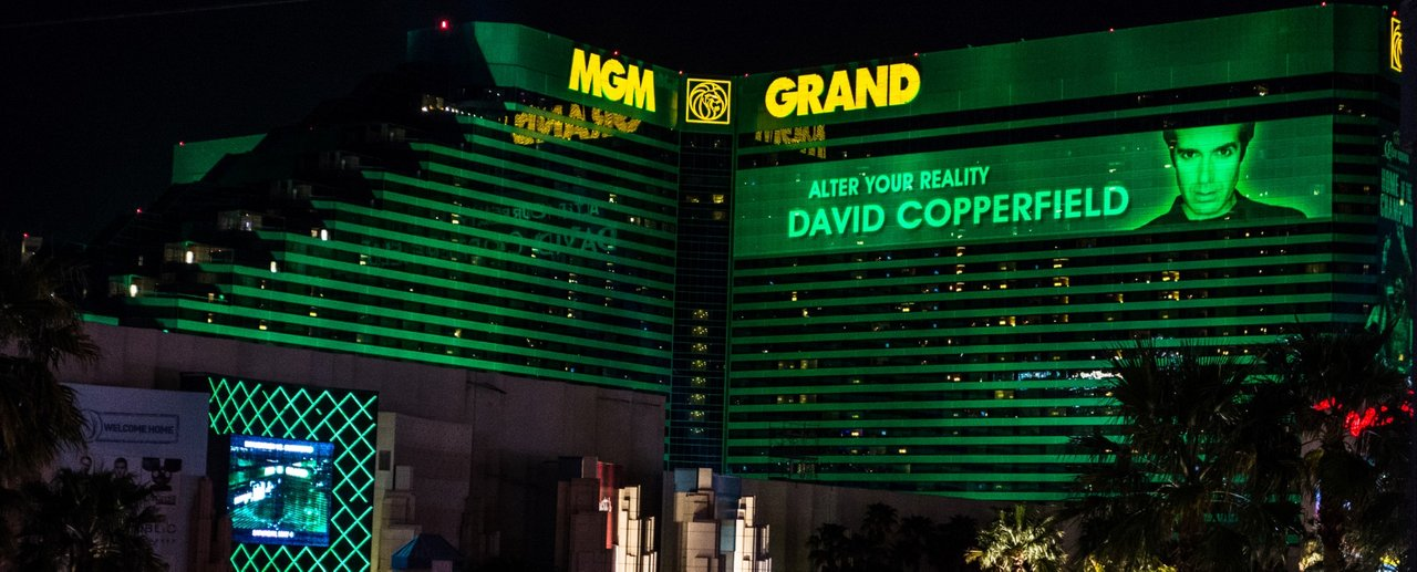 The MGM Grand hotel where I stayed and also attended the David Copperfield show