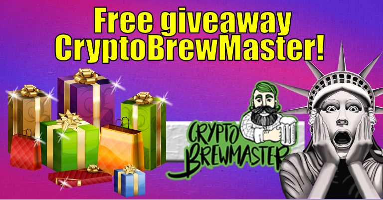 Free CryptoBrewMaster giveaway🎁 (daily) + PIZZA / Regalo🎁 gratis de CryptoBrewMaster 🌟 (diario) + PIZZA #28