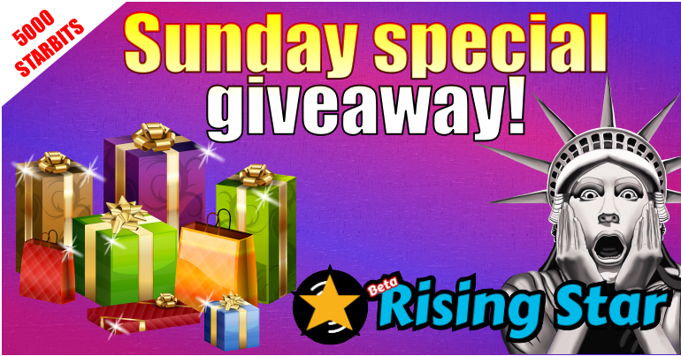 Free Rising Start 🌟  Sunday special giveaway!🎁    Regalo🎁 gratis de Rising Start 🌟 ¡Sorteo especial del domingo!