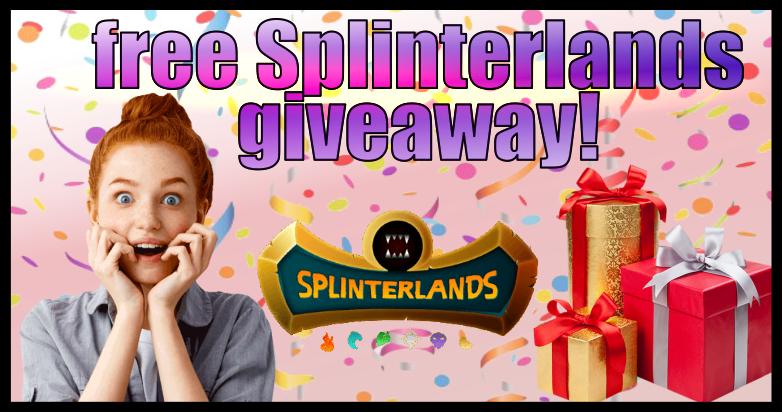 Free Splinterlands giveaway🎁 (daily) + PIZZA / Regalo🎁 gratis de Splinterlands 🌟 (diario) + PIZZA #60