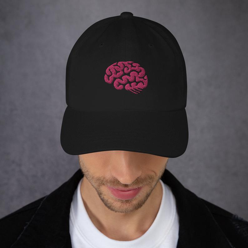 Proof of Brain 🧠 PoB - Adjustable Dad Hat - Now in the Shop - 9 Different Color Options