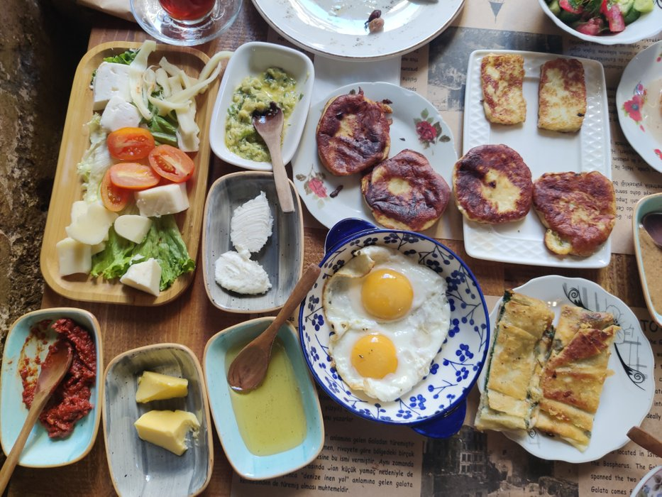 Take your morning slow with this feast! Village breakfast for 2 at Cafe Privato near Galata Tower
