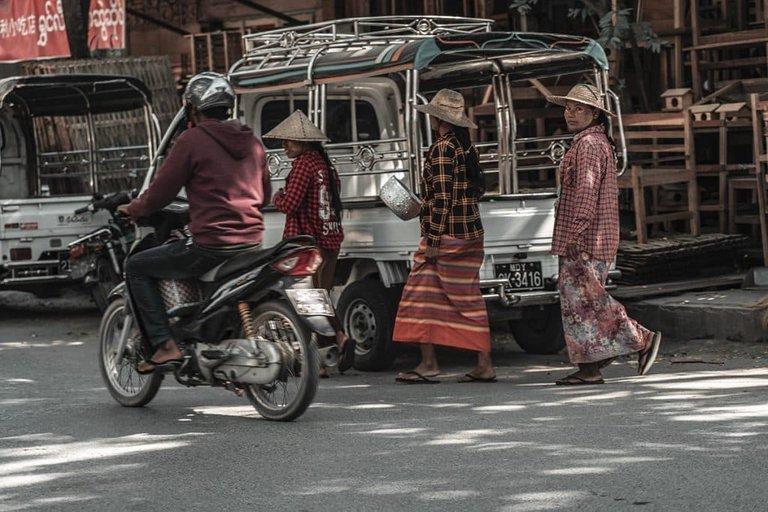 Streets of Mandalay Myanmar