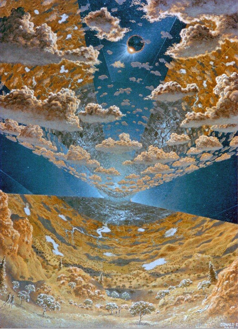 Interior View of L5 Torus Sphere Colony.  Space Colonization. Artwork by Don Davis ARC1975AC751920.jpg
