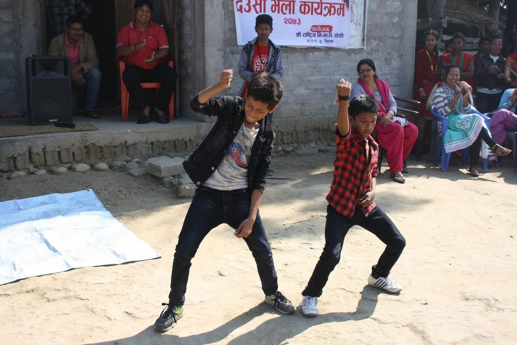 Bolywood movies are incredibly popular in all Nepal. This is the reason why all the youngsters love modern dances.